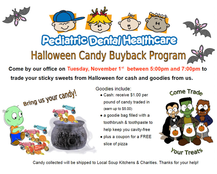 Save your teeth!  Take part in PDHC's Candy Buyback program!