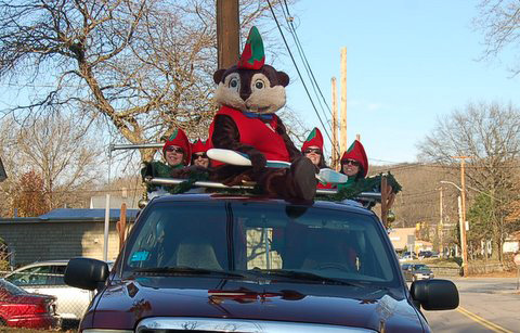 Buddy Beaver sighting in North Attleboro parade!