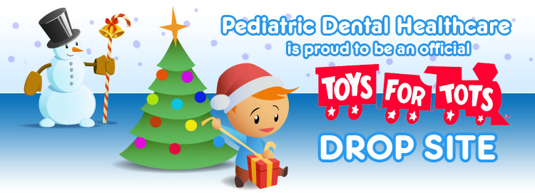 Pediatric Dental Healthcare in Plainville, MA is an official Toys for Tots Drop Site